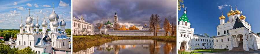 Жемчужины Золотого Кольца, 5 дней - автобусный тур из СПб, цены